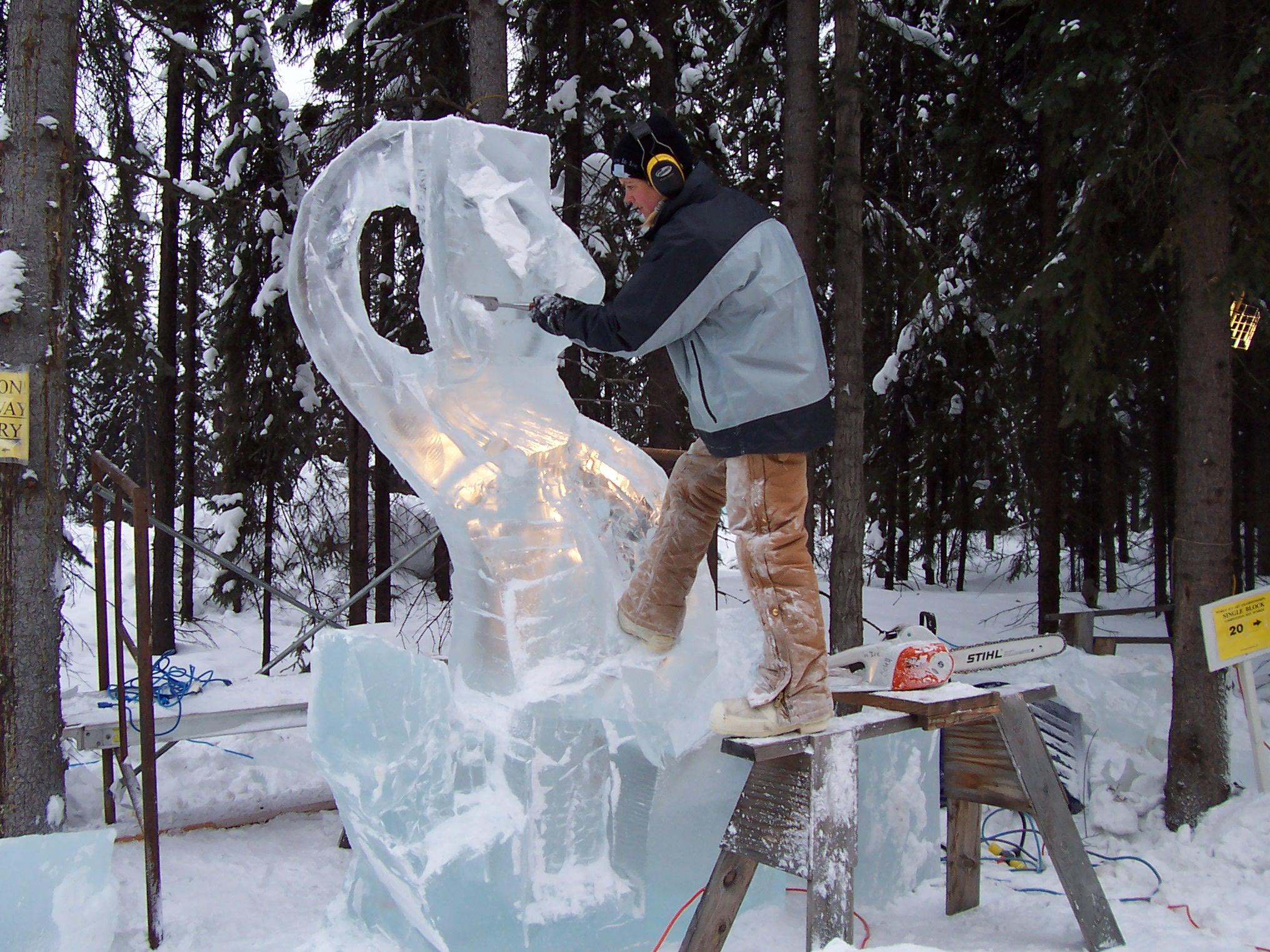 Afbeeldingsresultaat voor ice carving alaska stihl